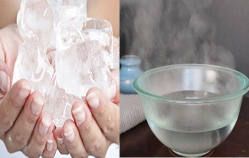 Hỗ trợ điều trị trĩ nội chảy máu bằng cách chườm đá hoặc ngâm nước muối ấm