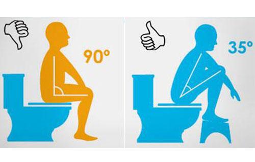Các tư thế đi vệ sinh đúng cách để tránh trĩ