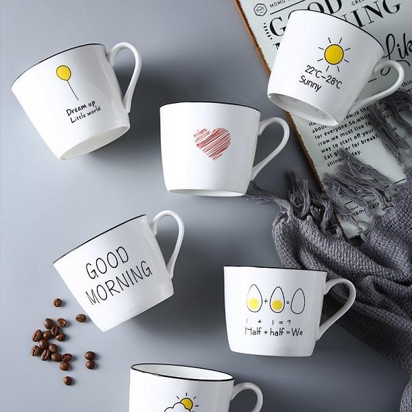Ly cốc sứ mang những thông điệp cụ thể